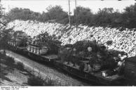 Frankreich, Panzertransport mit Eisenbahn