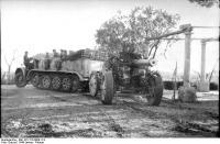 Italien, Zugkraftwagen mit schweremGeschütz
