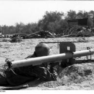 Reichsgebiet, Soldat mit Panzerabwehrwaffe