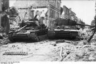 Villers-Bocage, zerstörte Panzer IV und VI