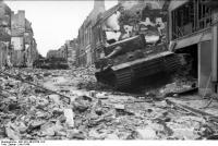 Villers-Bocage, zerstörte Panzer VI undIV