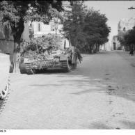 Rom, getarnter Panzer IV auf einer Straße
