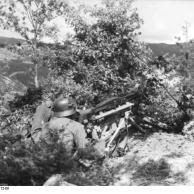Italien, Gebirgsjäger mit schwerem MG 42