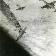 B-17 Goes Down