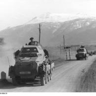 Balkan, Spähpanzer der Leibstandarte Adolf Hitler