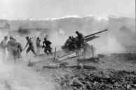 Griechenland, Artilleriestellung auf freiem Feld
