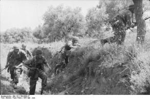 Kreta, Vormarsch deutscher Fallschirmjäger