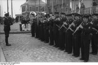 St. Nazaire, U-Boot einlaufend,Musikkapelle