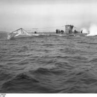 U-45 auf Meilenfahrt