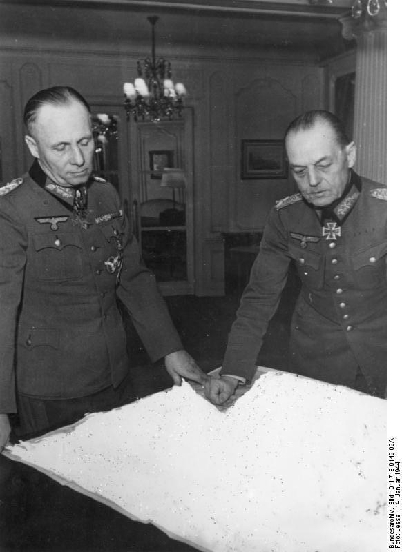Frankreich, Erwin Rommel und Gerd v. Rundstedt