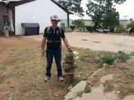 Um Hidrante instalado pelos americanos. Peça muito interessante, mas abandonada