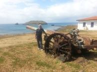 Esta peça de artilharia de 155mm foi trazido para defesa das ilhas durante a Segunda Guerra Mundial