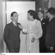 Joseph Goebbels und Leni Riefenstahl