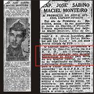 Citação ao Capitão Sabino