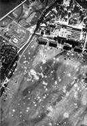 Um campo de pouso polonês sendo atacado