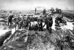 Tropas alemãs têm dificuldades para avançar no terreno