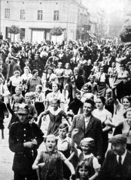 poloneses de origem alemã recebem tropas com alegria